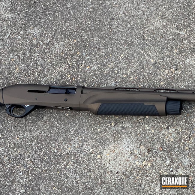 Cerakoted: S.H.O.T,Shotgun,Graphite Black H-146,Benelli,Midnight Bronze H-294