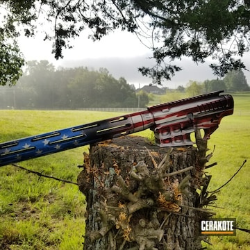America Flag Dpms Ar-15 Cerakoted Using Bright White, Nra Blue And Firehouse Red