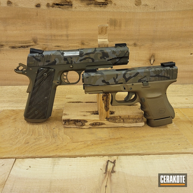 Cerakoted: S.H.O.T,.45,Glock 30,Tungsten H-237,Pistol,30,Matching Set,Semi-Auto,Handgun,MultiCam,Graphite Black H-146,Kimber,Burnt Bronze H-148,Glock,1911,COBALT KINETICS™ GREEN H-296,Urban Multicam
