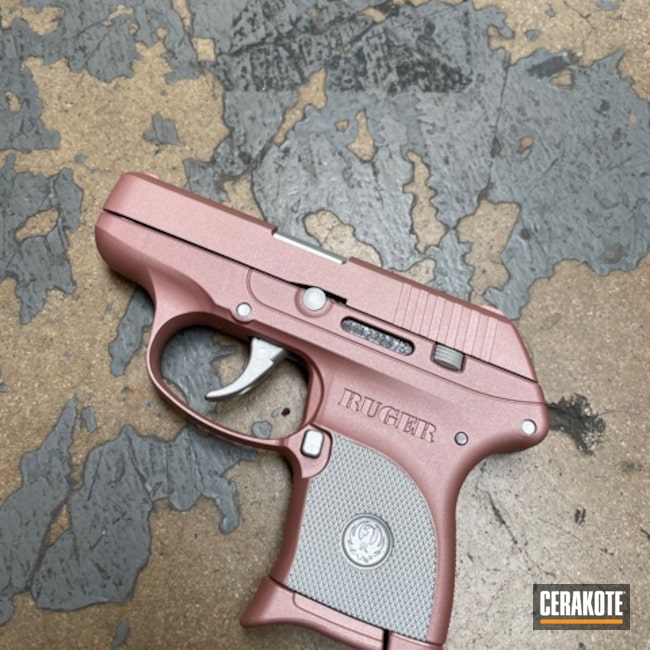 Cerakoted: S.H.O.T,LCP,Ruger,Two Tone,Satin Aluminum H-151,Pistol,ROSE GOLD H-327,Handguns,EDC