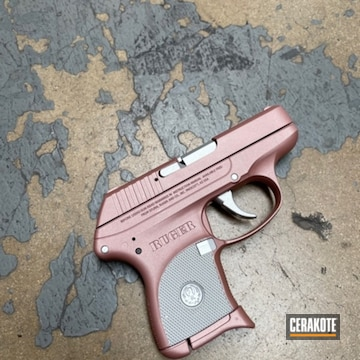 Ruger Lcp Cerakoted Using Satin Aluminum And Rose Gold
