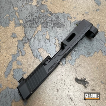 Agency Arms Slide Cerakoted Using Graphite Black