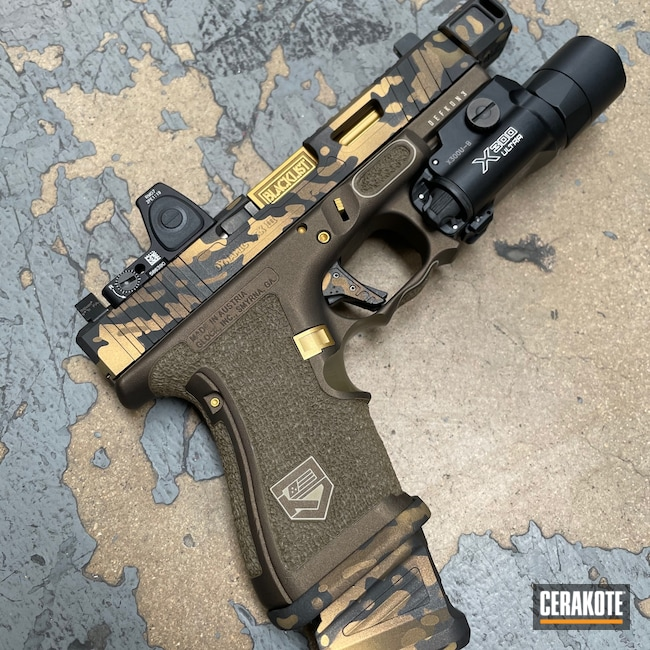 Cerakoted: S.H.O.T,Stippled,Pistol,Hand Stippled,Midnight Bronze H-294,Cobalt H-112,Custom Camo,Zev,Gold H-122,Defkon3,MultiCam,Graphite Black H-146,Burnt Bronze H-148,Handguns