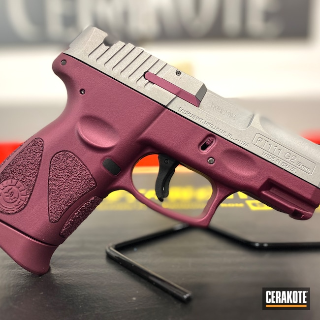 Cerakoted: S.H.O.T,9mm,Millennium G2,BLACK CHERRY H-319,Taurus,g2
