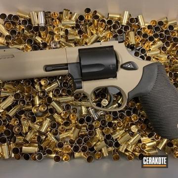 Revolver Cerakoted Using Graphite Black And Flat Dark Earth