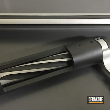 Bolt Action Rifle Fluted Barrel Cerakoted Using Stainless And Graphite Black