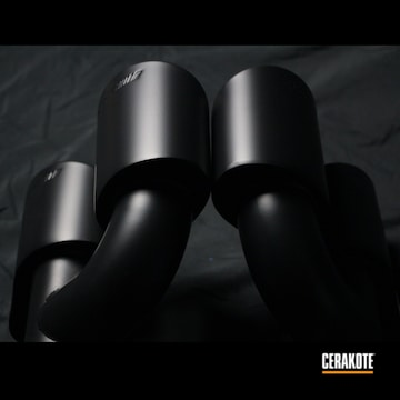 Mercedes Benz Exhaust Cerakoted Using Cerakote Glacier Black