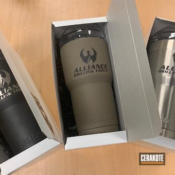 Custom Tumblers Cerakoted Using Graphite Black And Magpul® Flat Dark Earth