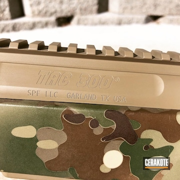 Custom Built Rifle Parts Cerakoted Using Magpul® Flat Dark Earth