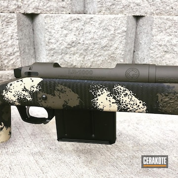 Rifle Barrel Cerakoted Using O.d. Green And Graphite Black