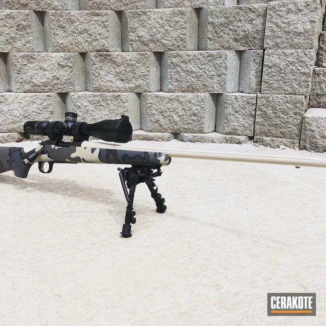 Cerakoted: S.H.O.T,IN RANGE,Graphite Black H-146,Desert Sand H-199,MCMILLAN® TAN H-203,Long Range,Custom Build