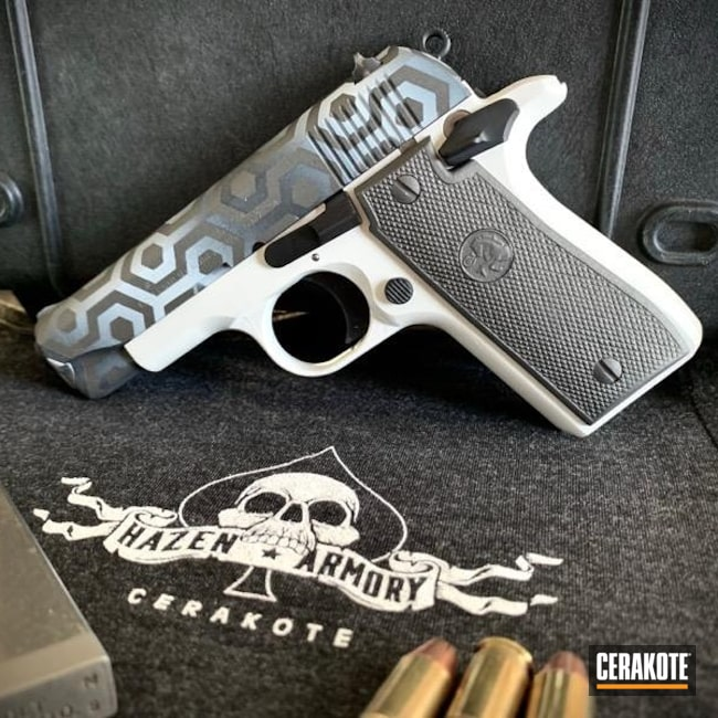 Cerakoted: S.H.O.T,Sniper Grey H-234,Graphite Black H-146,.380,Stormtrooper White H-297,Colt,Tungsten H-237,Mustang