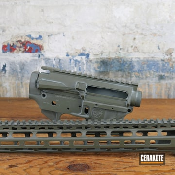 Ar Builders Set Cerakoted Using Frost, Magpul® O.d. Green And Smith & Wesson® Grey