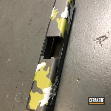 Custom Camo Glock Slide Cerakoted Using Mojito, Tactical Grey And Stormtrooper White