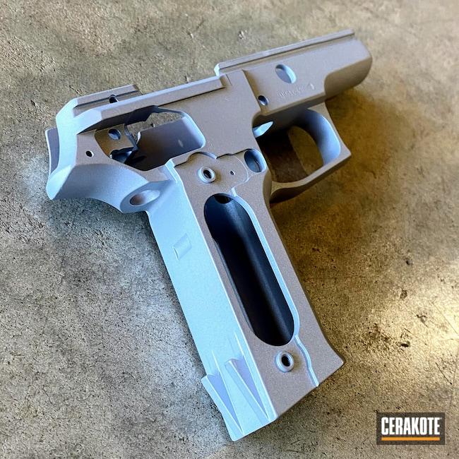 Cerakoted: S.H.O.T,Sig P226,Frame,Refurbished,Crushed Silver H-255,Sig Sauer,Firearms,P226,Pistol Frame