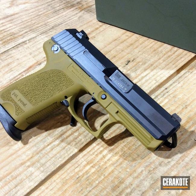 Cerakoted: S.H.O.T,HK USP .40,BLACKOUT E-100,Ral 8000 H-8000,Pistol,Firearms,USP,H&K,Handgun