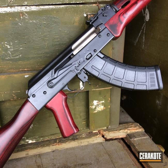 Cerakoted: S.H.O.T,Rifle,Graphite Black H-146,Chinese,HIGH GLOSS CERAMIC CLEAR MC-160,Tactical Rifle,AK-47,MAK-90,Firearms,AK,GunCandy,Norinco