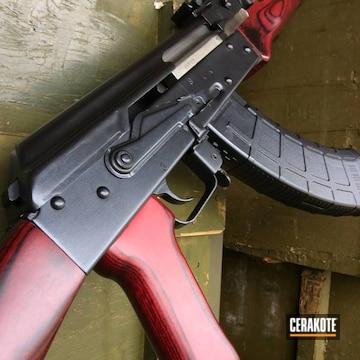 Ak-47 Cerakoted Using High Gloss Ceramic Clear And Graphite Black