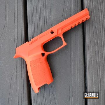 Sig Sauer Grip Cerakoted Using Hunter Orange