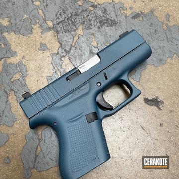 Glock 43 Cerakoted Using Blue Titanium