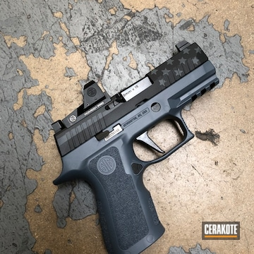 Custom Sig Sauer P320 Cerakoted Using Multicam® Dark Grey And Graphite Black