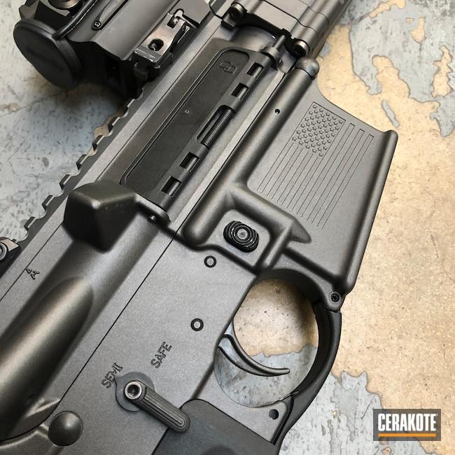 Cerakoted: S.H.O.T,Custom Mix,Rifle,Daniel Defense,Custom Color,Graphite Black H-146,Disruptive Grey,Tungsten H-237,Tactical Rifle,Daniel Defense DDM4,DDM4 V7,AR-15