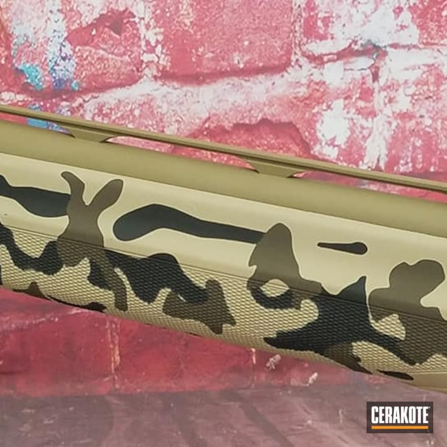 Cerakoted: S.H.O.T,Bolt Action Rifle,Coyote Tan H-235,Graphite Black H-146,Desert Sand H-199,Beretta,Camouflage,Custom Camo