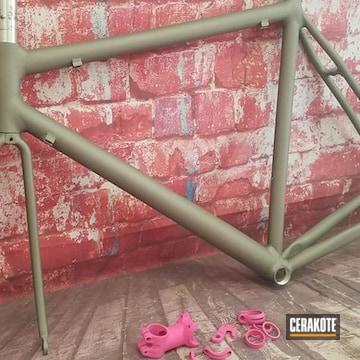 Bike Frame Cerakoted Using Titanium