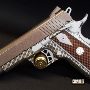 1911 Cerakoted Using Federal Brown And Tungsten