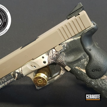Custom Glock Cerakoted Using Mcmillan® Tan
