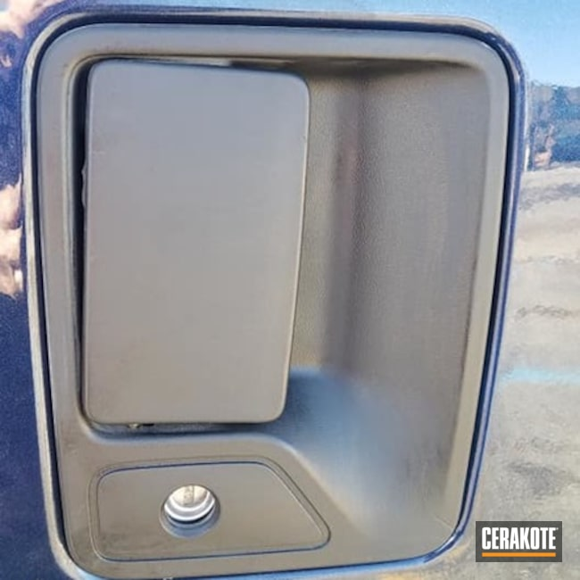 Car Door Handle Restored Using Cerakote Trim Coat Kit