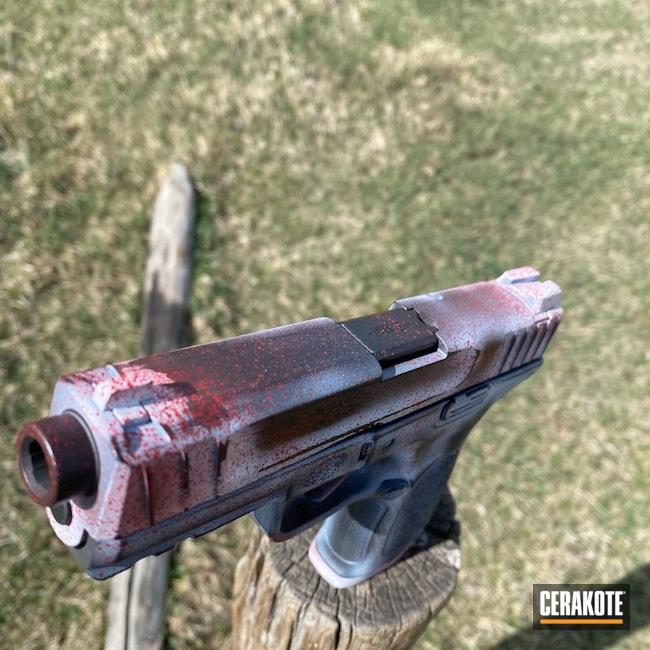 Cerakoted: Hidden White H-242,S.H.O.T,9mm,HABANERO RED H-318,Glock