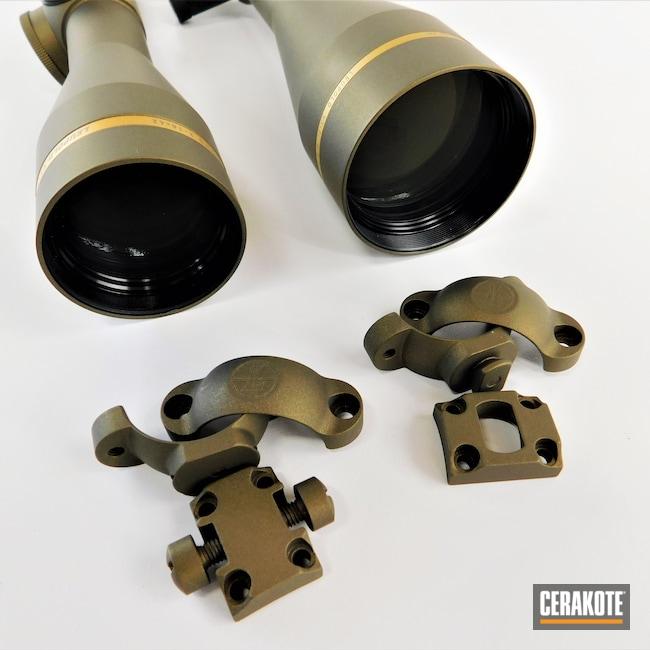 Cerakoted: S.H.O.T,Scope,Scopes,Rings,Leupold Rings,Leupold Scope,Burnt Bronze H-148,vx-3i,VX-5HD,Leupold