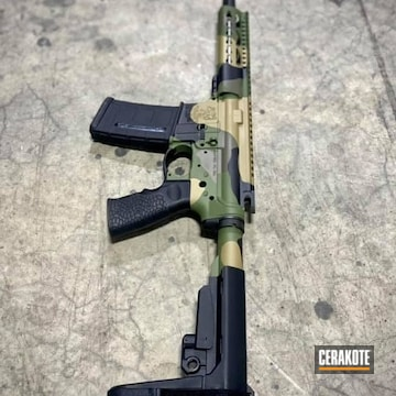 Custom Multicam Ar Cerakoted Using Mud Brown, Glock® Fde And Multicam® Dark Green
