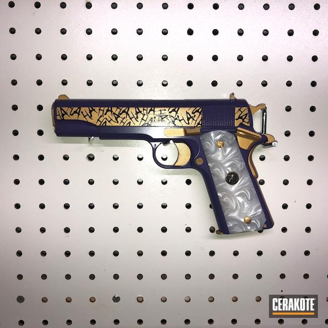Cerakoted: S.H.O.T,The Joker,Graphite Black H-146,HIGH GLOSS CERAMIC CLEAR MC-160,Wild Purple H-197,Colt,Pistol,1911,45 ACP,HaHaHa,Gold H-122