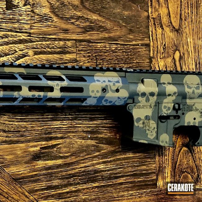 Cerakoted: S.H.O.T,Sniper Grey H-234,Skull Camo,AR,Tactical Rifle,Flat Dark Earth H-265,.300 Blackout,AR-15