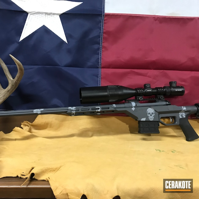 Cerakoted: S.H.O.T,Bolt Action Rifle,Sniper Grey H-234,Savage Arms,Precision,Creedmoor
