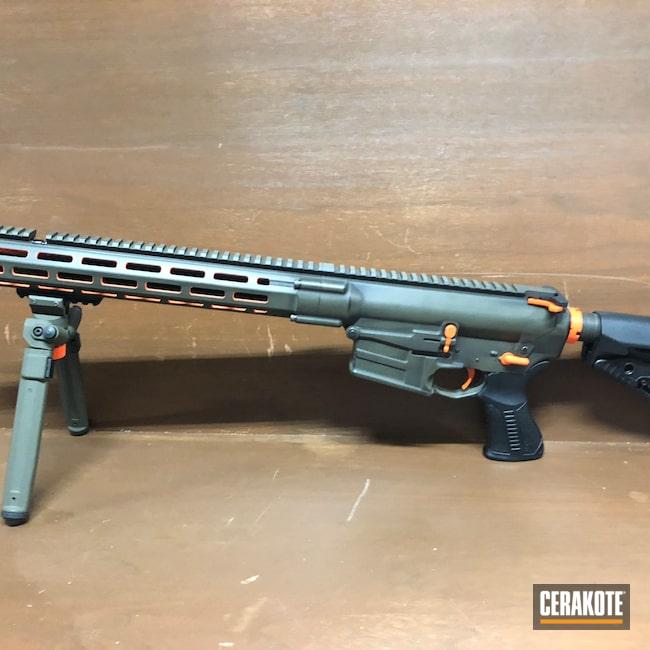 Cerakoted: S.H.O.T,Savage Arms,Battleworn,Graphite Black H-146,O.D. Green H-236,msr,Hunter Orange H-128,.308,AR 10