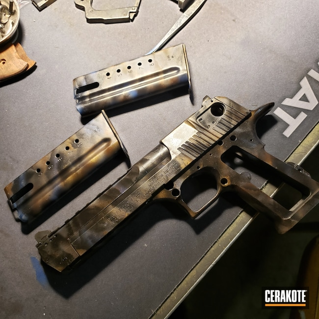 Cerakoted: S.H.O.T,NRA Blue H-171,BARRETT® BRONZE H-259,HIGH GLOSS CERAMIC CLEAR MC-160,Burnt Bronze H-148,KEL-TEC® NAVY BLUE H-127,Armor Black H-190