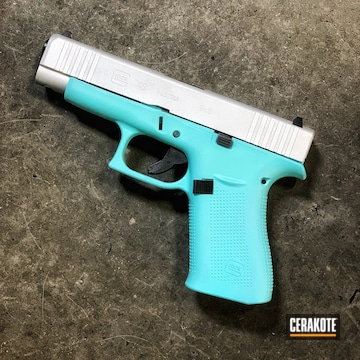Glock 48 Cerakoted Using Robin's Egg Blue