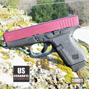 Glock 42 Slide Cerakoted Using Black Cherry