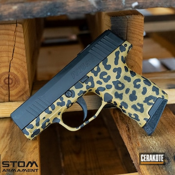 Sig Sauer P365 Cerakoted Using Armor Black And Ral 8000