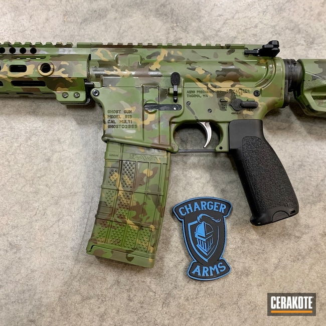 Cerakoted: S.H.O.T,MultiCam Tropic,MULTICAM® LIGHT GREEN H-340,MULTICAM® OLIVE H-344,O.D. Green H-236,Camouflage,.223 Wylde,5.56,MULTICAM® DARK GREEN H-341,Plum Brown H-298,AR-15