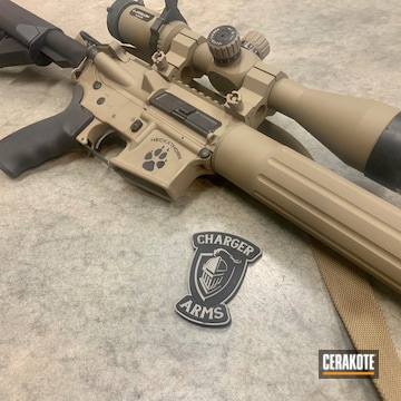 Dpms Ar And Athlon Scope Cerakoted Using Magpul® Flat Dark Earth