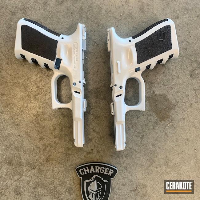 Cerakoted: S.H.O.T,Graphite Black H-146,Stormtrooper White H-297,Pistol,Glock