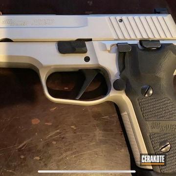 Sig Sauer P229 Cerakoted Using Satin Aluminum