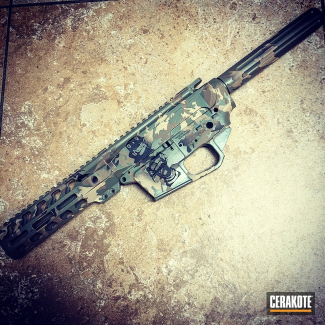 Cerakoted: S.H.O.T,MultiCam,BARRETT® BROWN H-269,Armor Black H-190,Flat Dark Earth H-265,MULTICAM® DARK GREEN H-341
