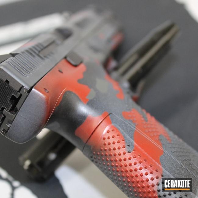 Cerakoted: S.H.O.T,Crimson H-221,Pistol,P10F,SIG™ DARK GREY H-210,Handgun,9mm,Stone Grey H-262,Jesse James Cold War Grey H-402,MultiCam,Graphite Black H-146,Camo,CZ,Camouflage