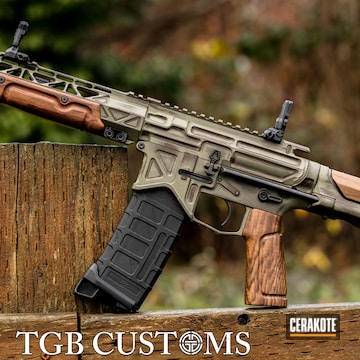 Battle Arms Development Ar Build Cerakoted Using Plum Brown And Hazel Green