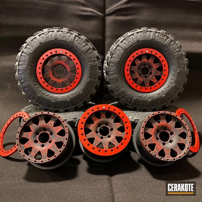 Cerakoted: RC Car Parts Cerakote Coated,1.9,USMC Red H-167,Armor Black H-190,RC Car